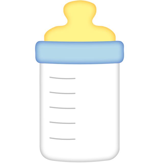 Baby bottle clipart 5 .