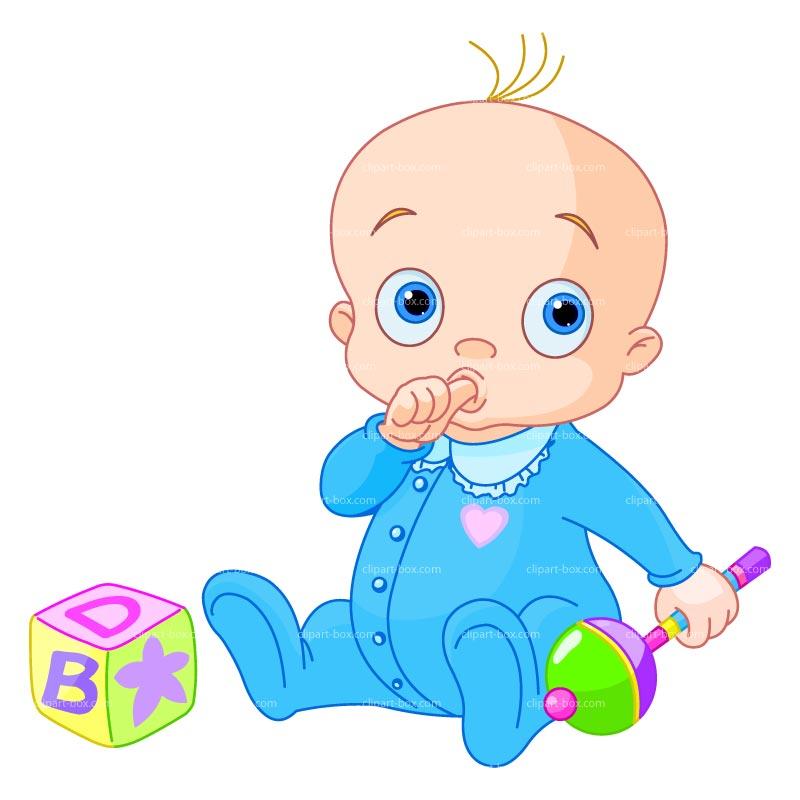 Baby boy clipart 4
