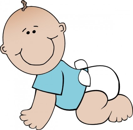 Baby boy crawling clip art free vector in open office drawing svg