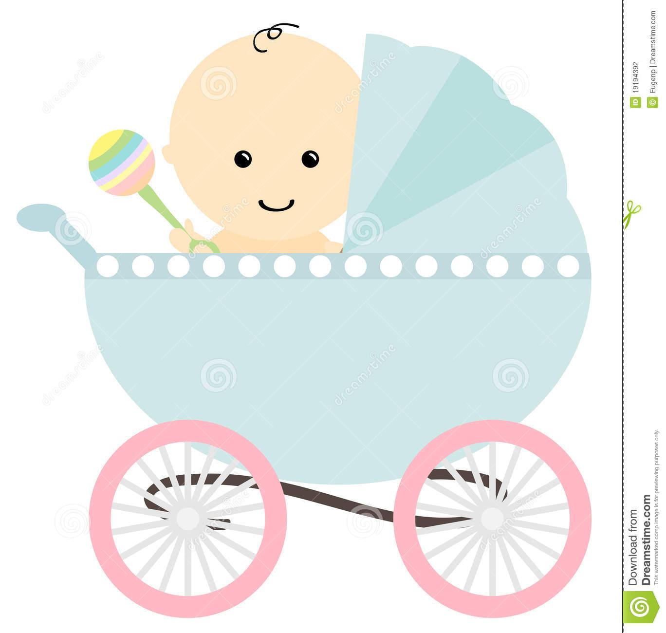 Baby Boy Stroller Clip Art ..