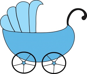 Baby Carriage Clipart Image Blue Baby Carriage Montanaesgr