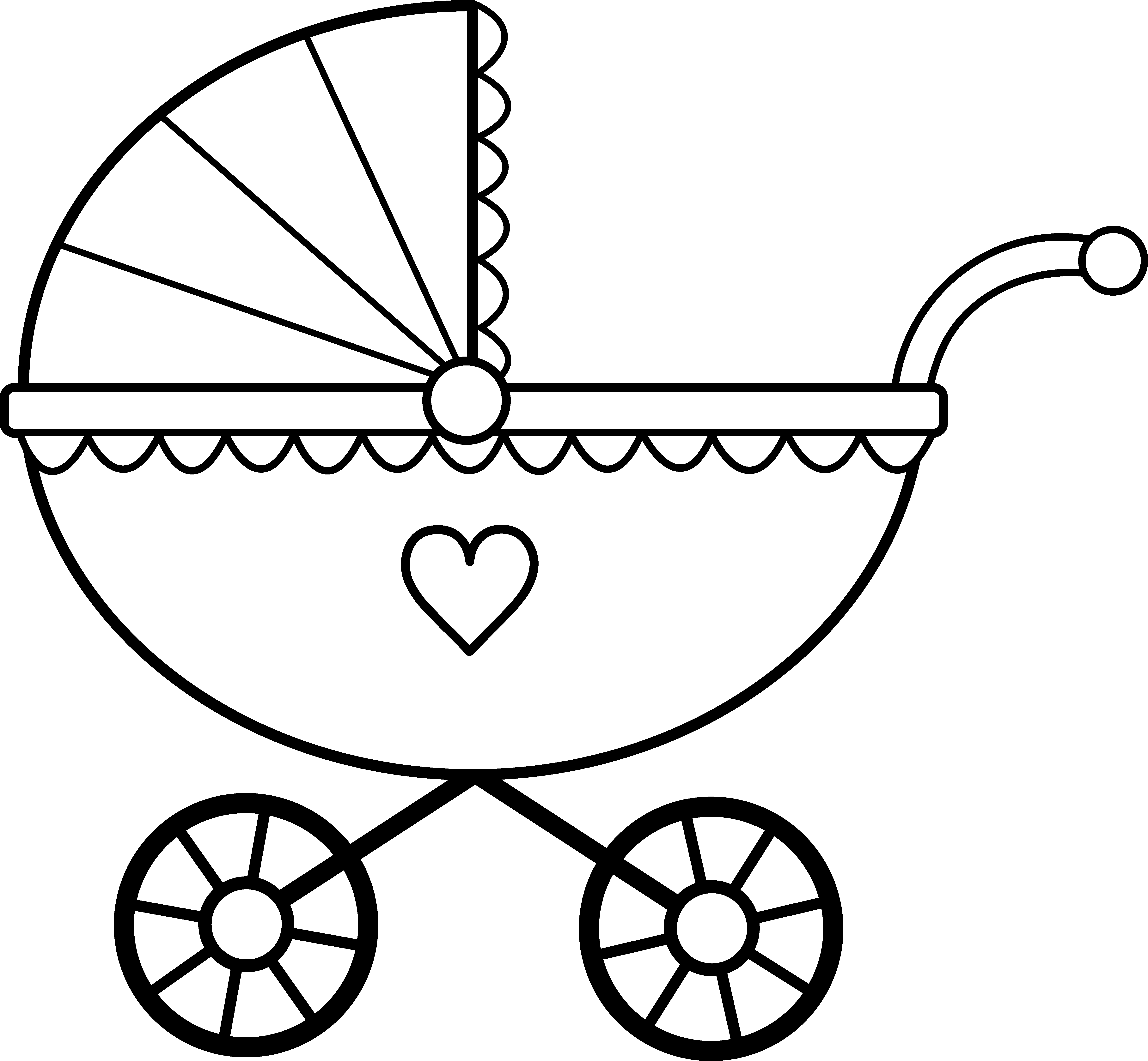 Baby Carriage Line Art - Free Clip Art-Baby Carriage Line Art - Free Clip Art-1