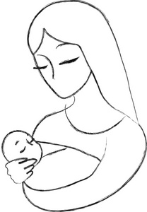 Mom And Baby Clipart