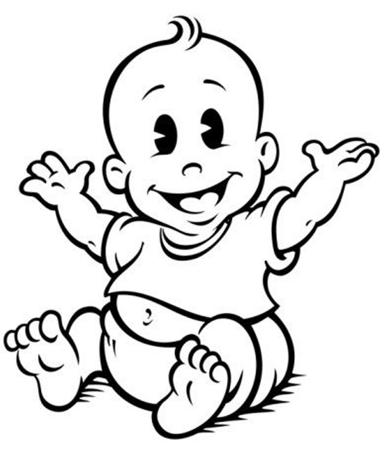 Baby Clipart Black And White-Baby clipart black and white-9