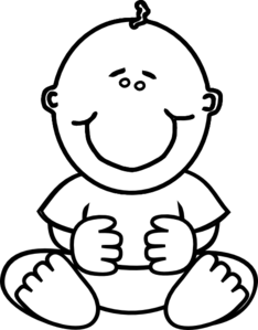 Baby Clipart Black And White .
