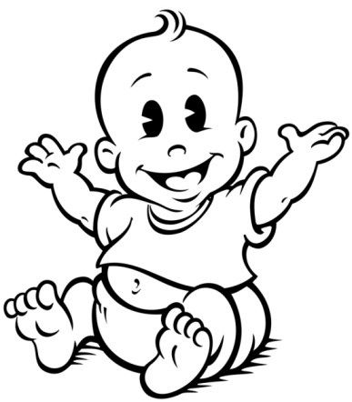 Baby Clipart Black And White-Baby Clipart Black and White-4