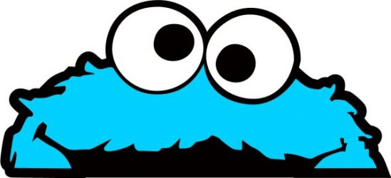 Baby Cookie Monster Clipart .