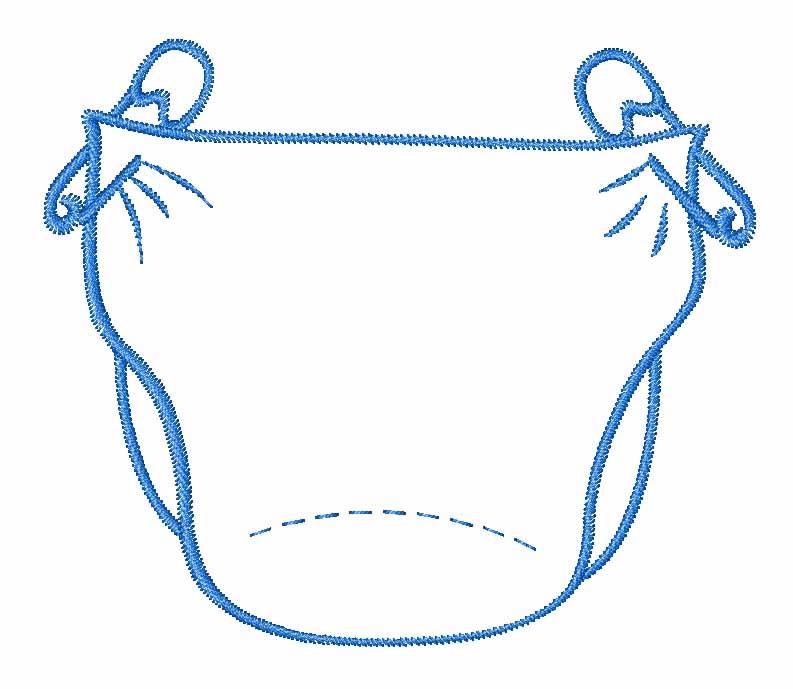 Baby Diaper Outline Clip Art-Baby Diaper Outline Clip Art-5