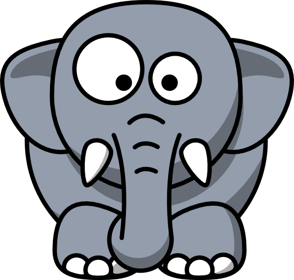 Baby Elephant clip art - vector clip art online, royalty free