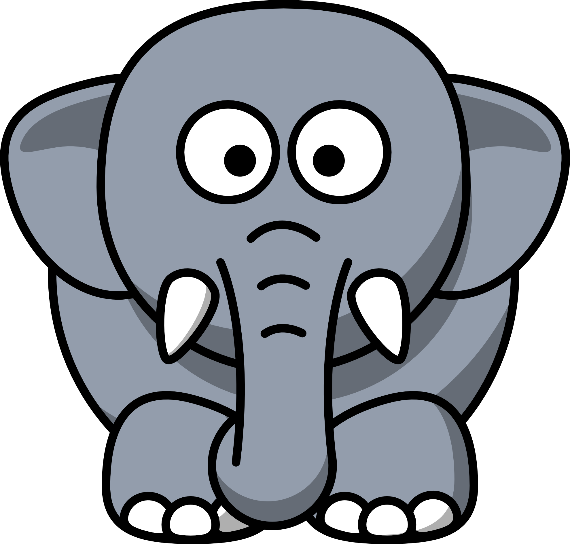 Baby Elephant Clipart Clipart Panda Free-Baby Elephant Clipart Clipart Panda Free Clipart Images-0