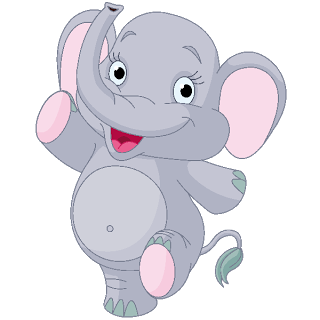 Baby Elephant Dark Blue Clip Art Images