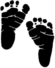 Baby Feet Clip Art - 50 ... Tough Day | Pinelodge .