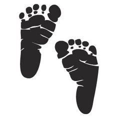 Baby Feet clip art - vector . Svg On Pinterest Silhouettes .