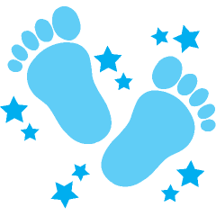 ... Baby footprint clipart free ...