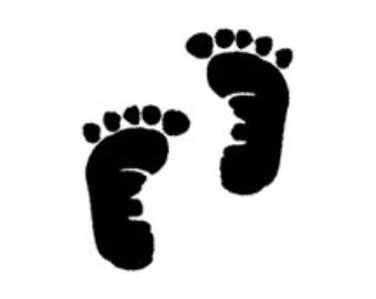 Baby Footprint Clipart In Black And White
