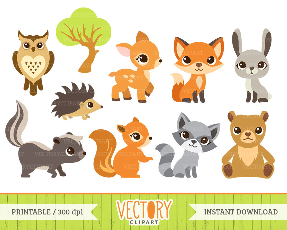 21+ Baby Forest Animal... Forest Animal Clipart | ClipartLook