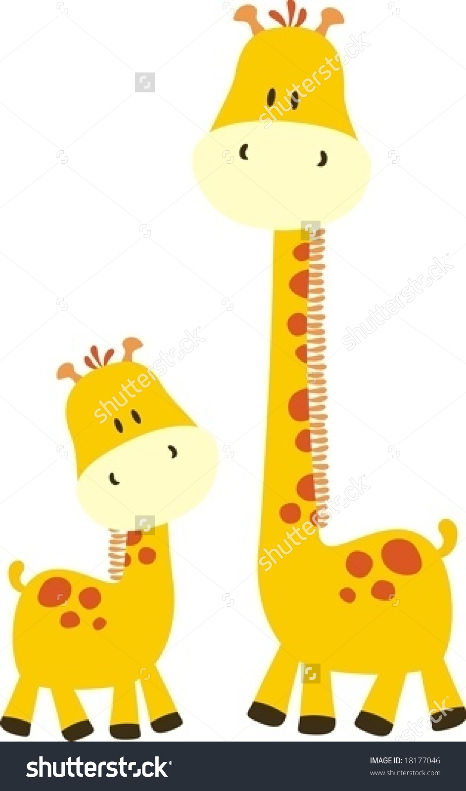 Baby Giraffe And Mom, . - Baby Giraffe Clip Art