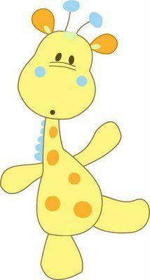 Baby Giraffe Cartoon Animal C - Baby Giraffe Clip Art