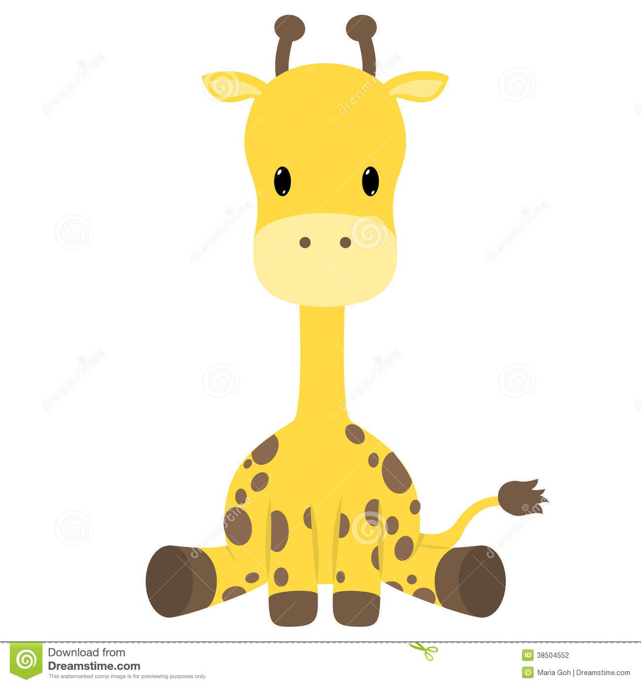 Baby Giraffe Free Clipart
