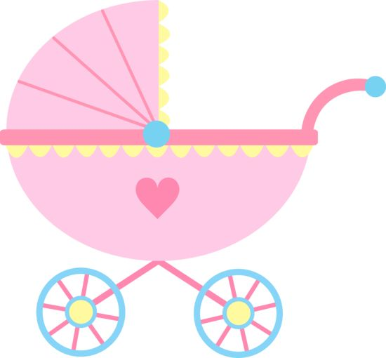 Baby girl baby clipart girl cute pink baby carriage free clip art
