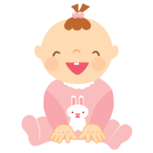 Baby girl clipart .
