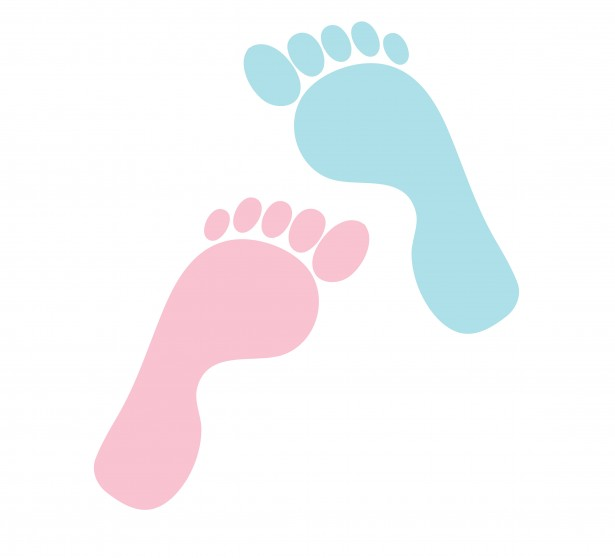 Baby Girl Feet Clip Art Footprints His Hers Clipart