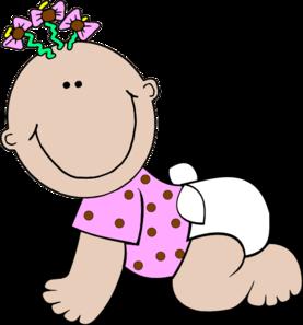 Baby Girl Polka Dot Clip Art At Clker Com Vector Clip Art Online
