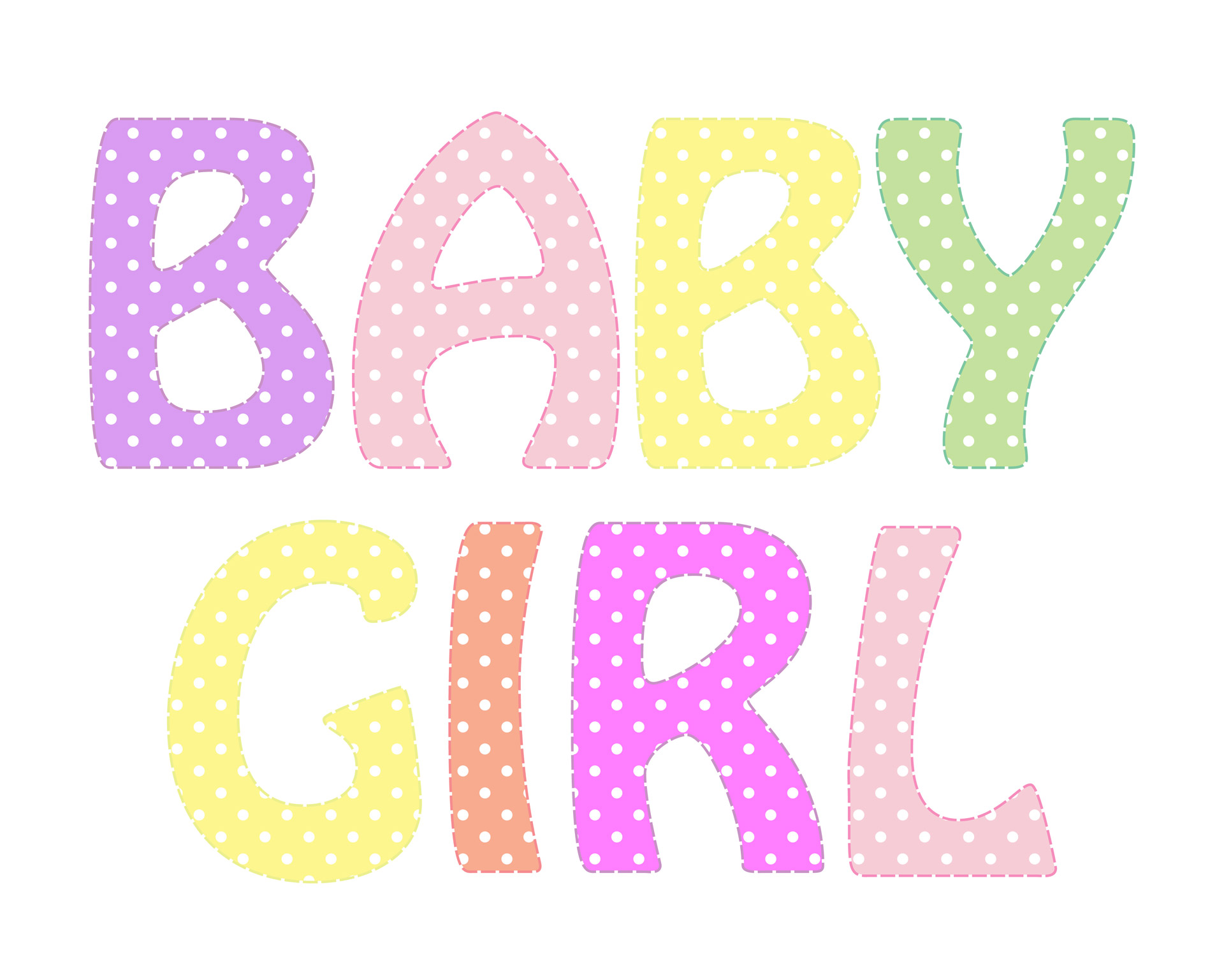 Baby Girl Text Clipart
