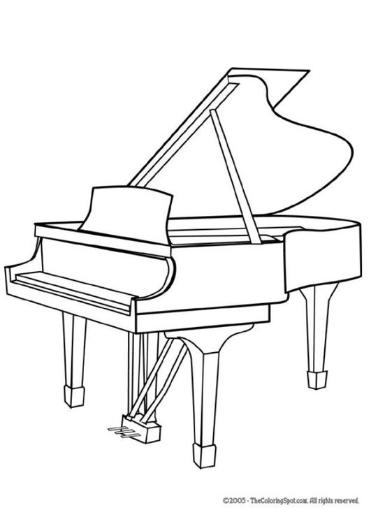 Baby grand piano clipart - .