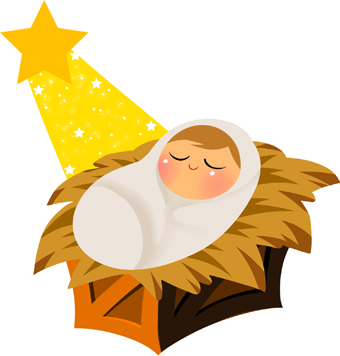 Baby Jesus With Yellow Star Clip Art