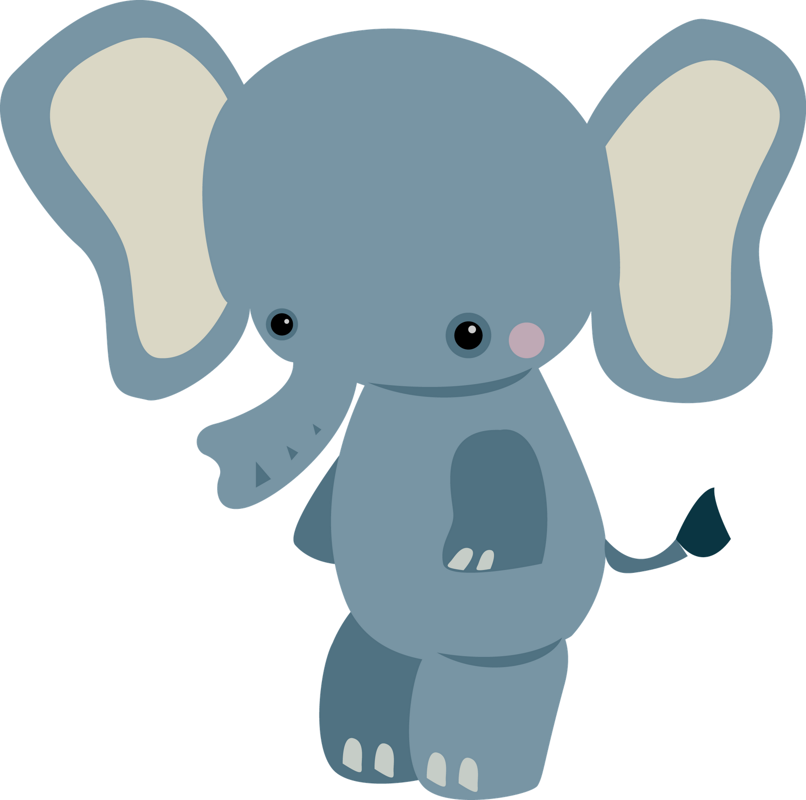 Baby Jungle Animal Clipart .