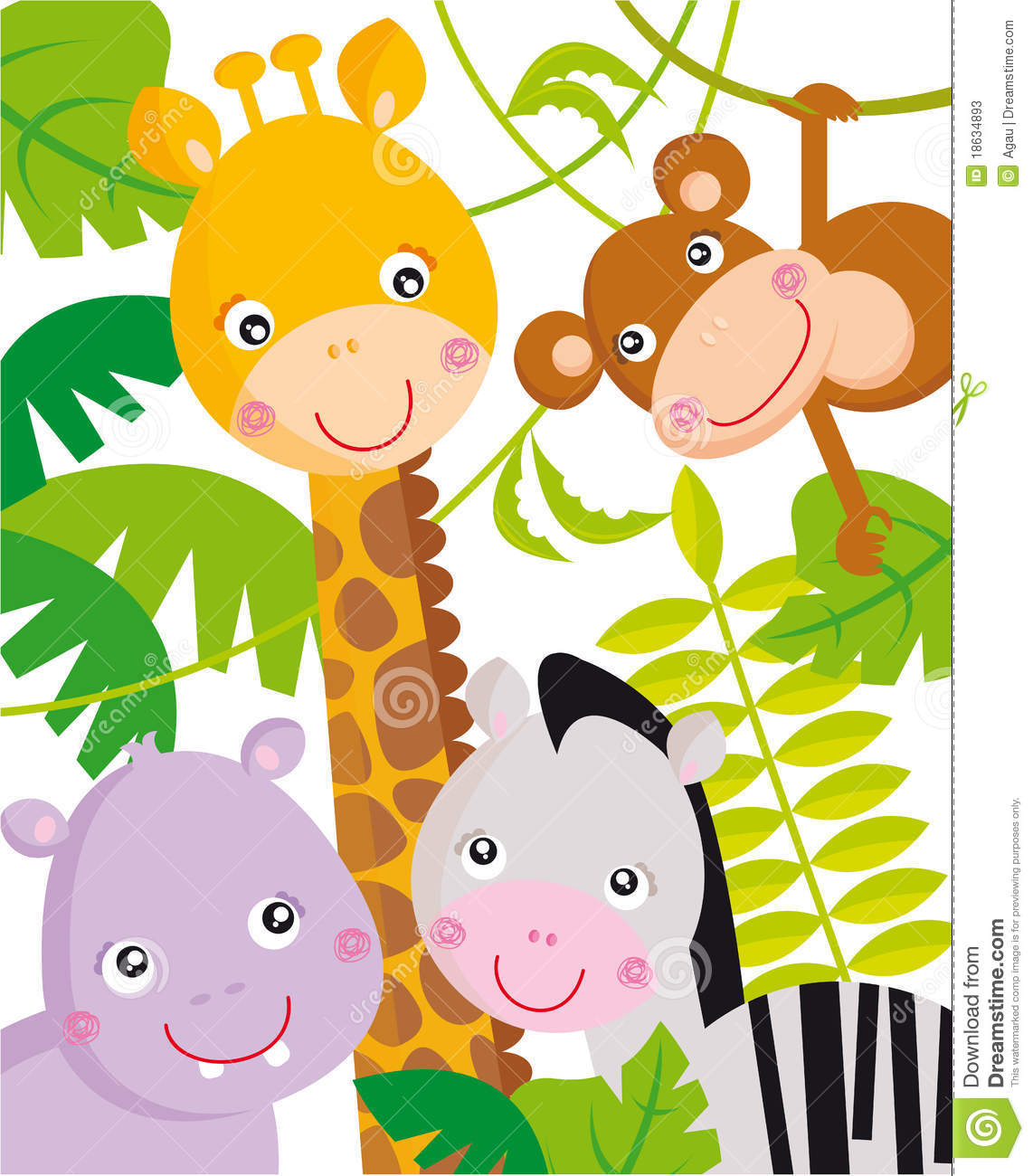 Baby Jungle Animals Clipart Jungle Animals