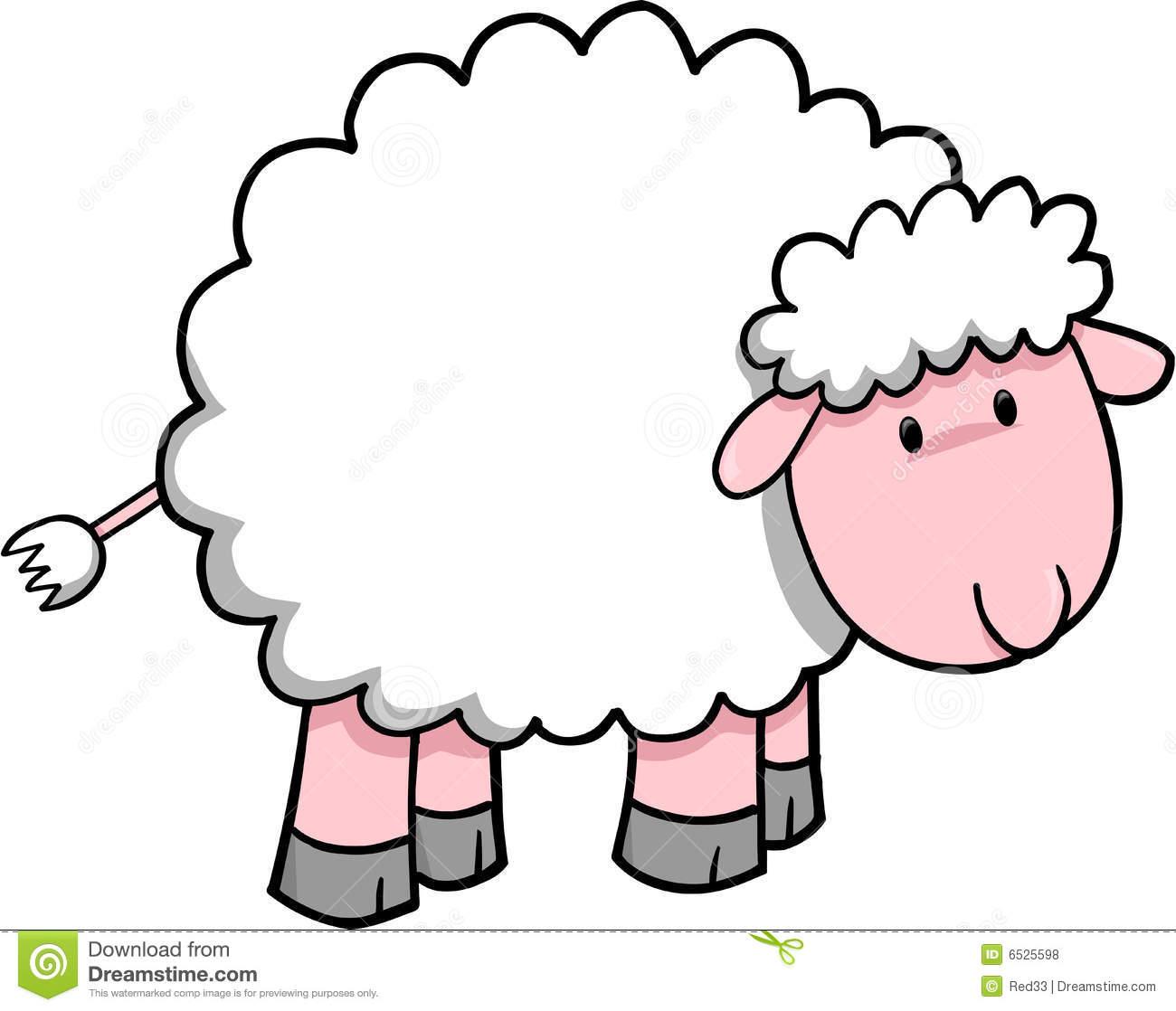 Baby Lamb Clipart Sheep Vector Illustrat-Baby Lamb Clipart Sheep Vector Illustration-12