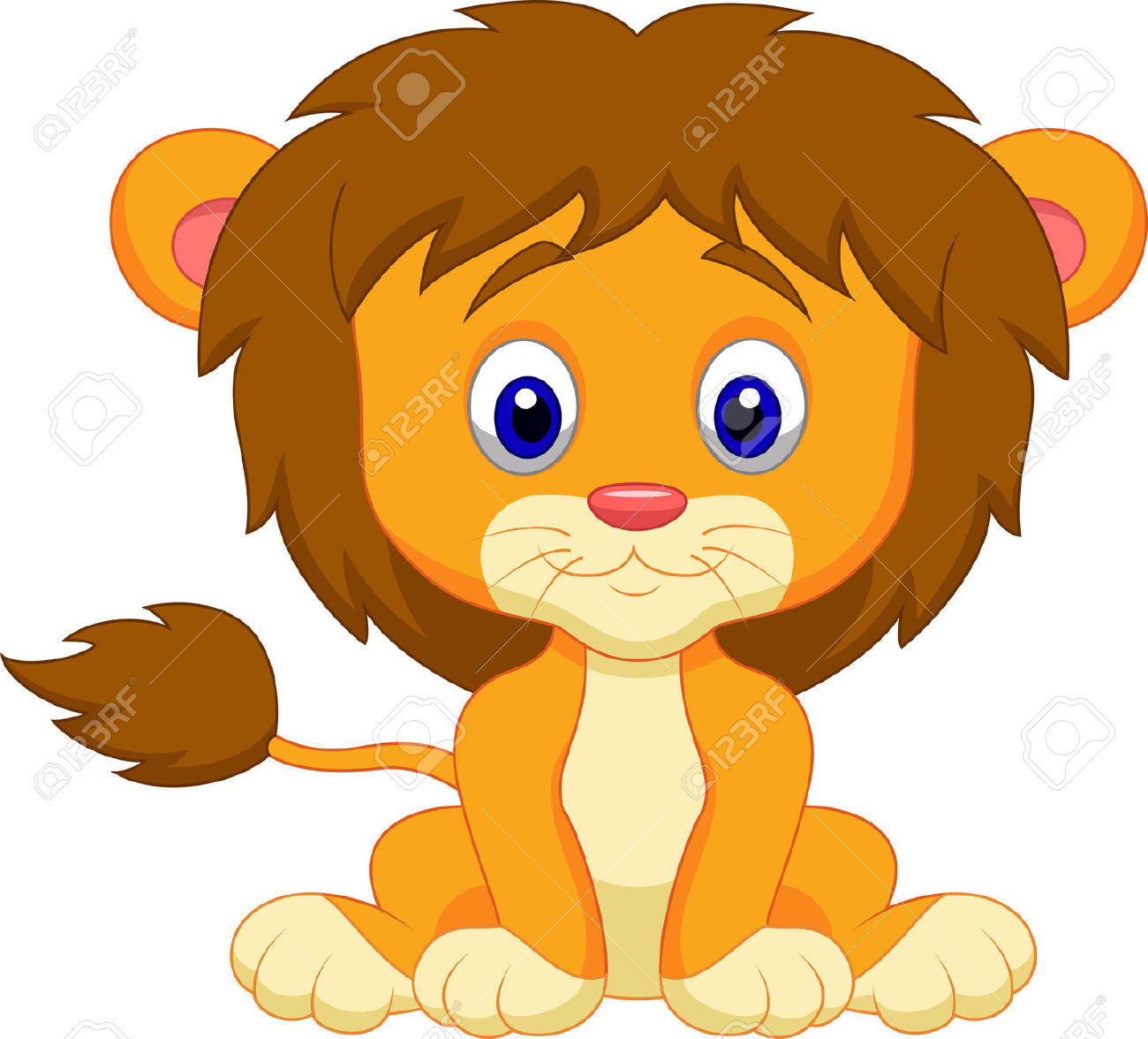 Baby Lion Cartoon Sitting Royalty Free C-Baby Lion Cartoon Sitting Royalty Free Cliparts Vectors And-4