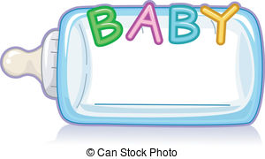 Baby Milk Bottle - Text Illustration Fea-Baby Milk Bottle - Text Illustration Featuring the Word Baby Baby Milk Bottle Clip Artby ...-10