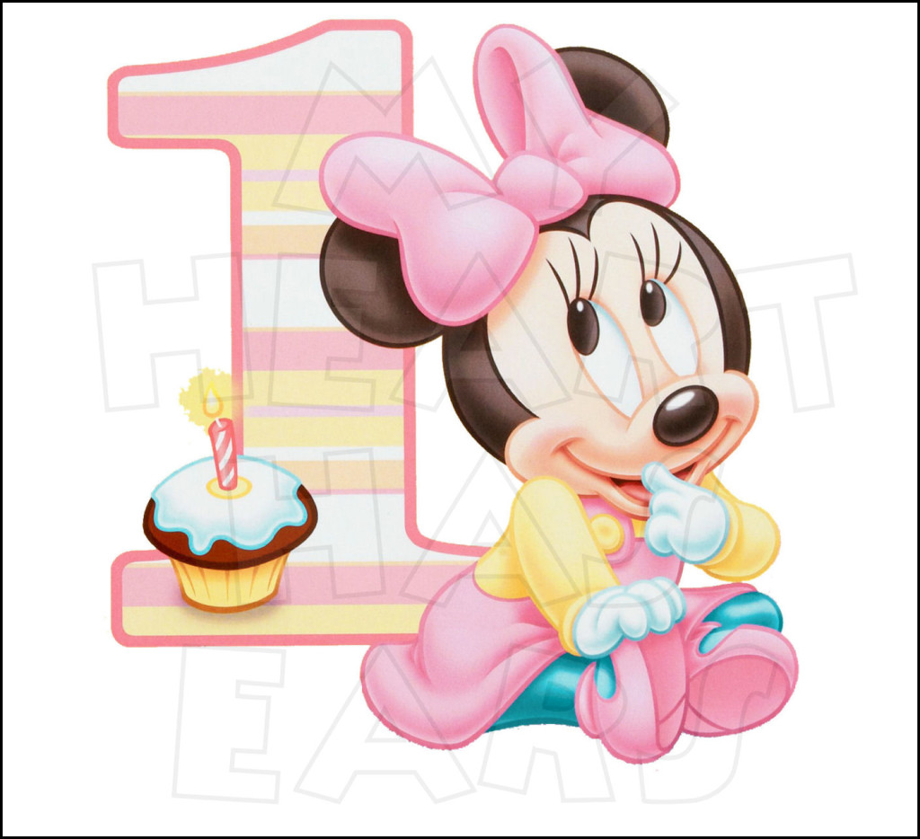 Baby Minnie Mouse 1st Birthday Clipart B-Baby Minnie Mouse 1st Birthday Clipart Baby Minnie Mouse 1st Birthday-10