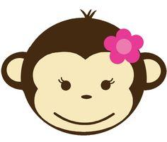 Baby Monkey Clip Art | Baby Girl Monkey Clip Art