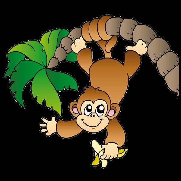 Baby Monkey Clip Art Black And ..-Baby Monkey Clip Art Black And ..-18