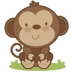 Baby monkeys clip art