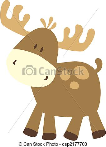 ... baby moose - childish ilustration of baby deer, very easy to... ...