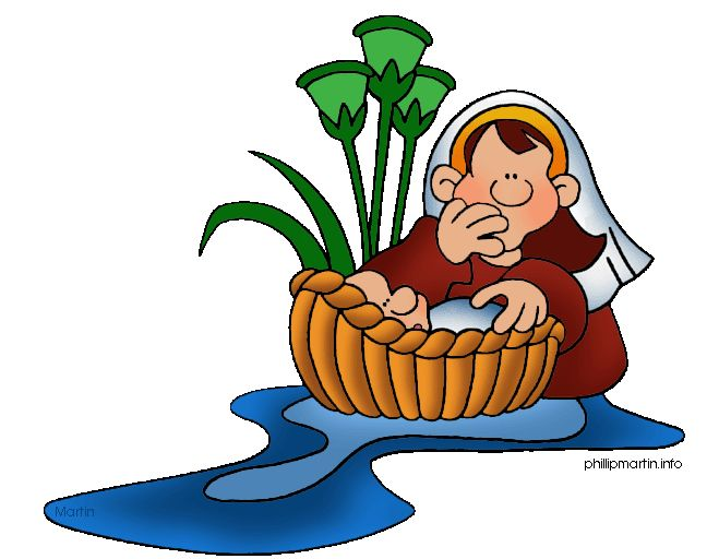 Baby Moses in the Reeds free clipart