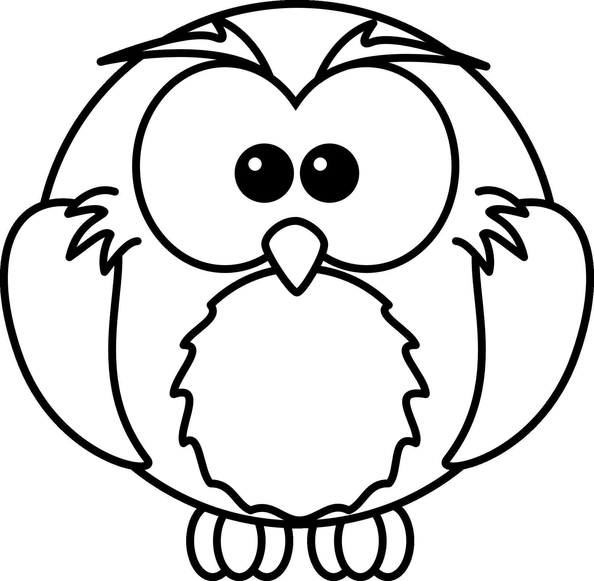 Black And White Owl Clip Art