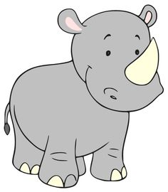 Baby Rhino Clipart Baby Nursery Jungle Pinterest Baby Rhino