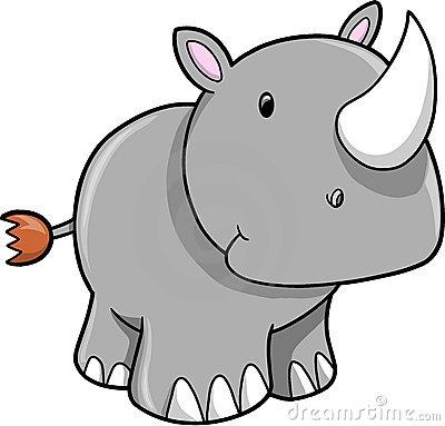 Baby Rhino Clipart