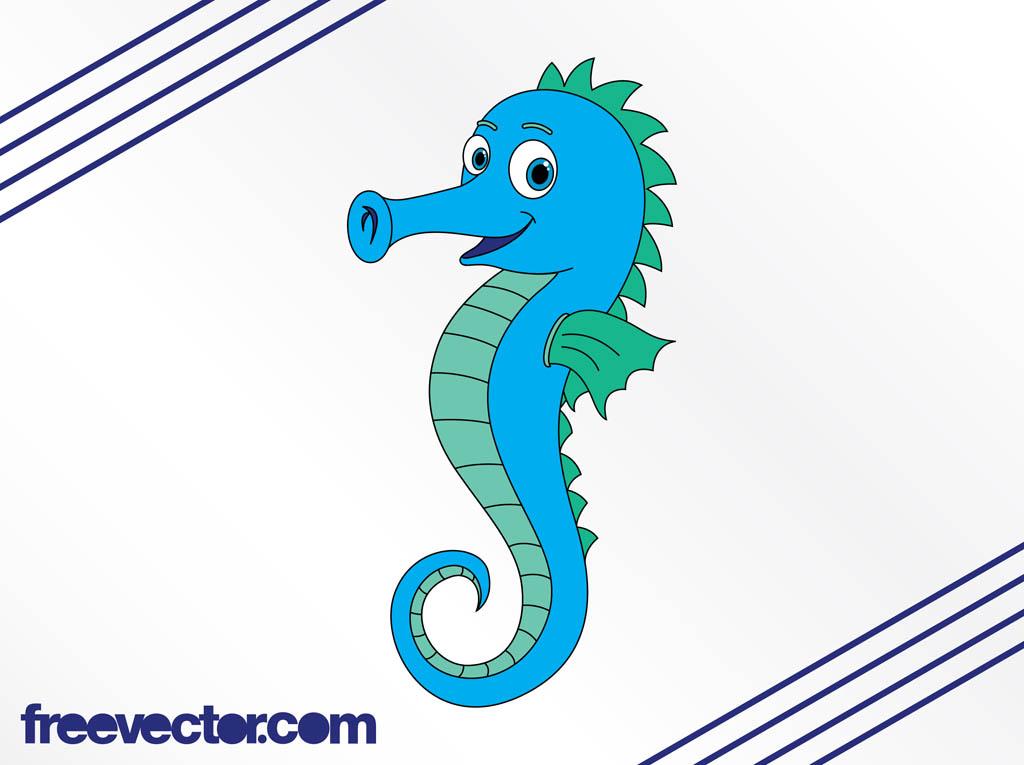Baby seahorse clipart free . Cartoon Seahorse