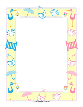 Baby Shower Border This Baby Shower Bord-Baby Shower Border This Baby Shower Border Features A Yellow Frame-9