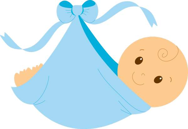 Baby Shower Clip art Images. Swaddled baby boy free clip .