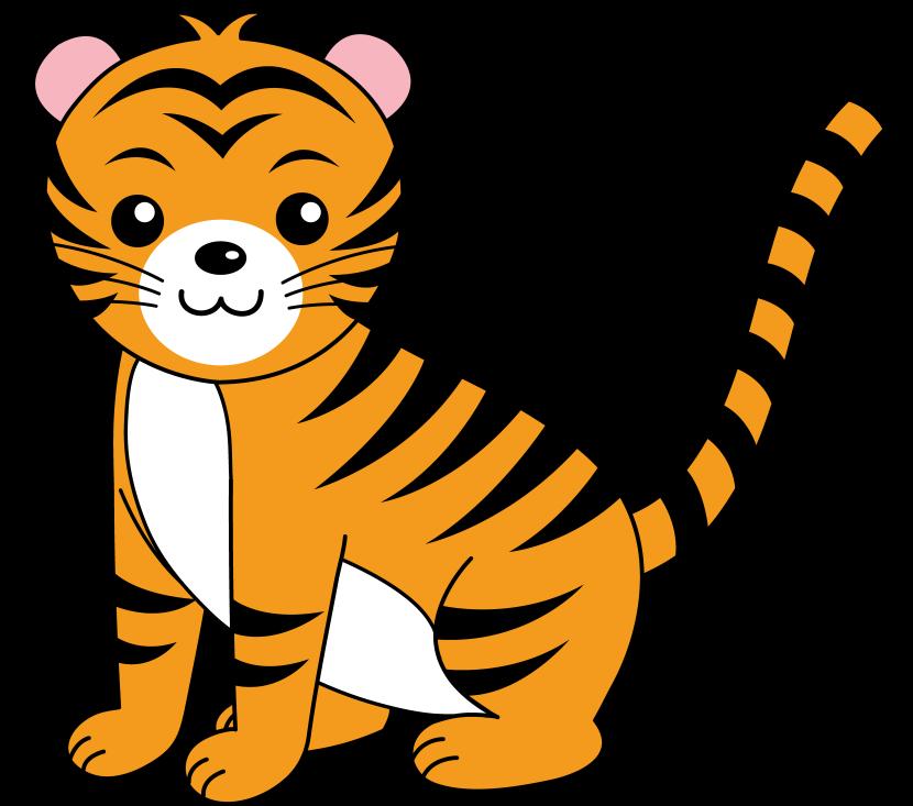 Baby Tiger Clip Art-Baby Tiger Clip Art-1