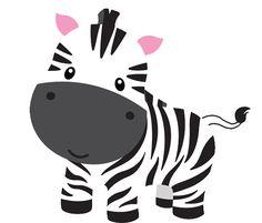 Baby Zebra Animals Clipart