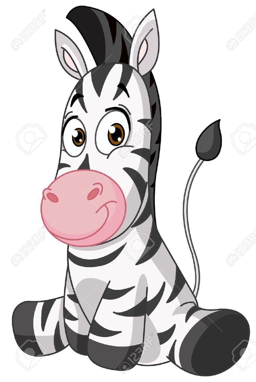 Baby zebra Stock Vector - 19287365
